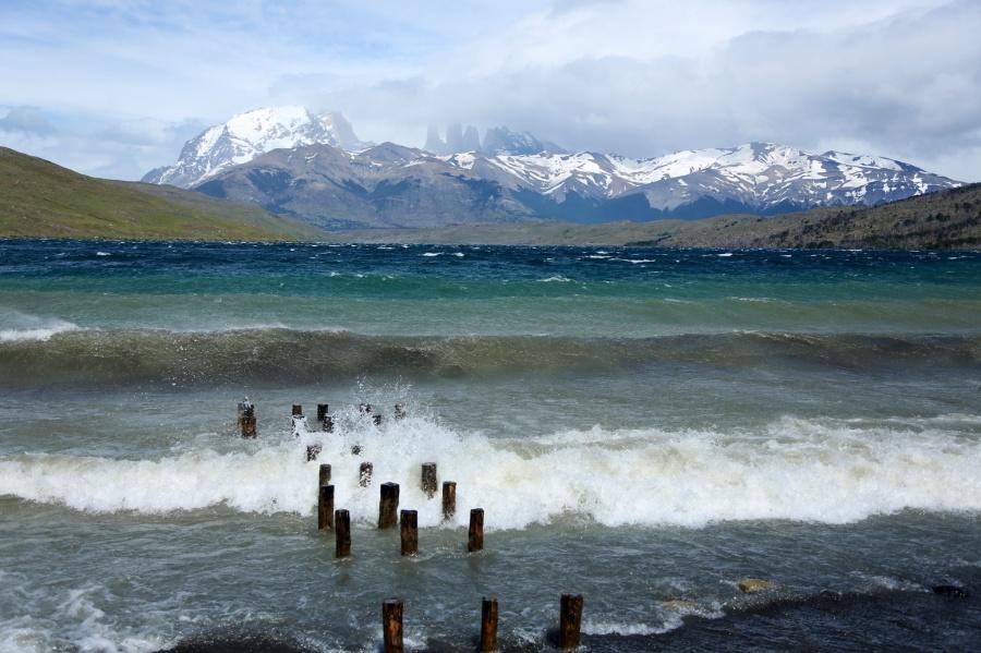 Lago Azul in Torres del Paine, Chile