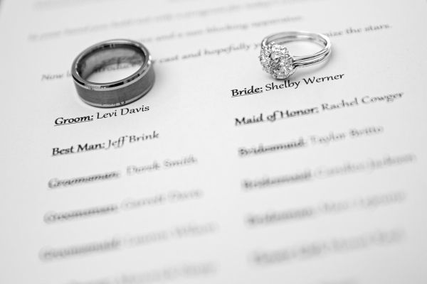 wedding rings, detail